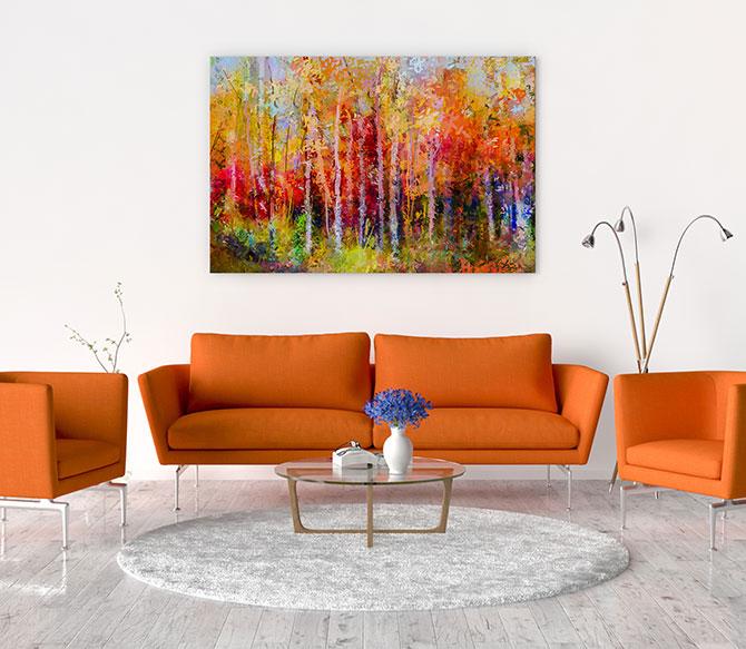 orange home decor
