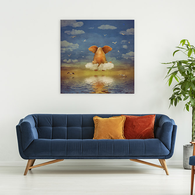 interior colour trends matching a blue sofa