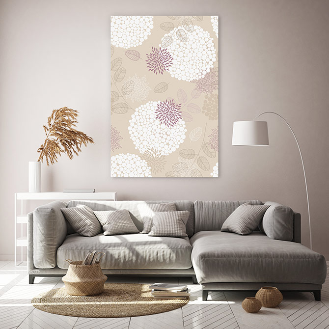interior colour trends with floral art