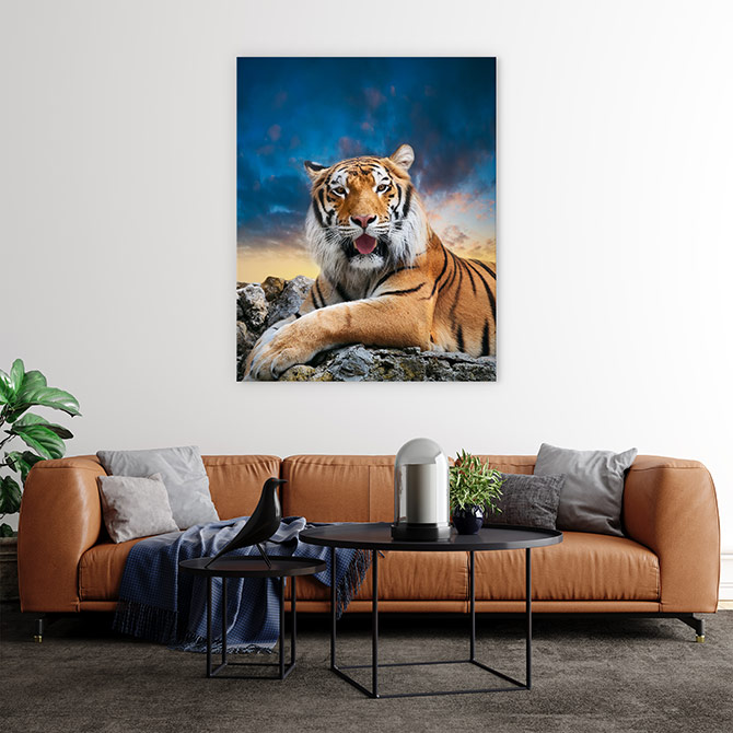 wildlife art of tigers