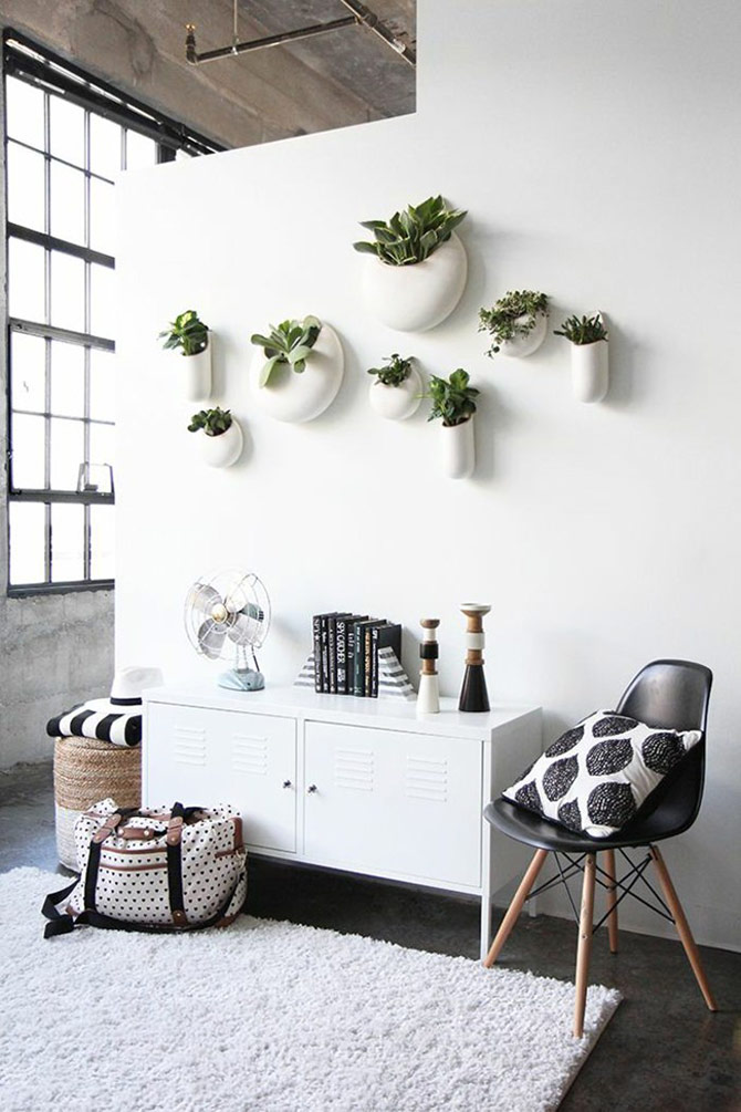 bedroom wall decor planters