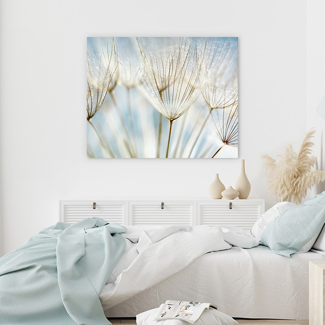 white bedroom wall decor