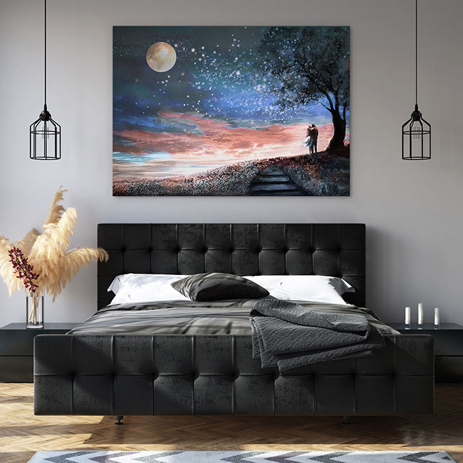 dreamy bedroom wall decor