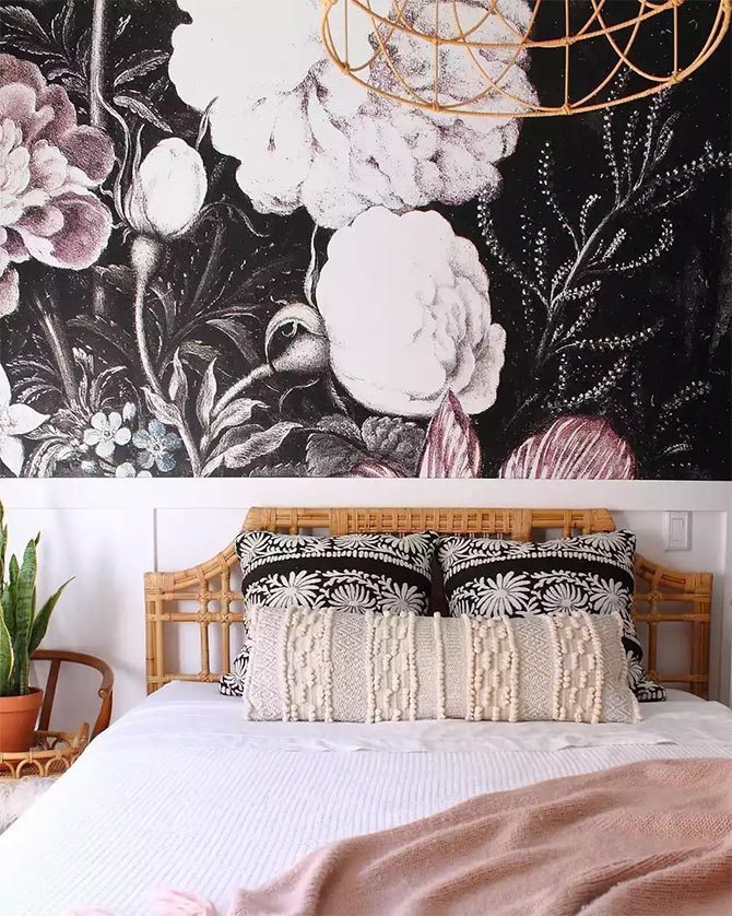 floral bedroom wall decor