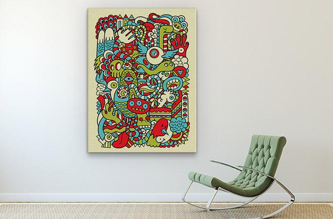 Quirky post modern art print