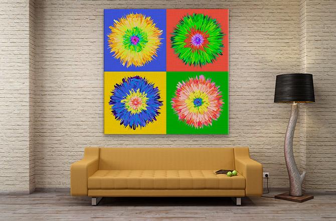Post modern art - Warhol inspired