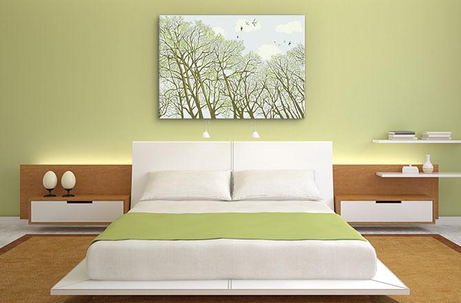 Bedroom design art ideas - go natural