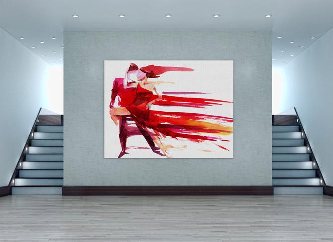 Red hot romantic art