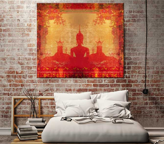 Apartment Interior Design - Spiritual Buddhist Canvas Print