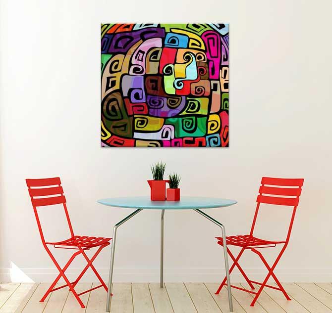 Apartment Interior Design - Urban Graffiti Canvas Print