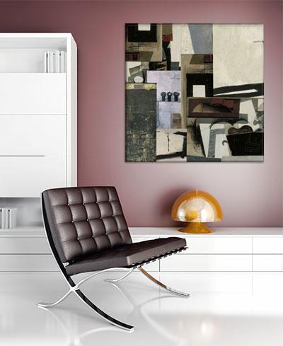 Apartment Interior Design - Cubism Art Canvas Print