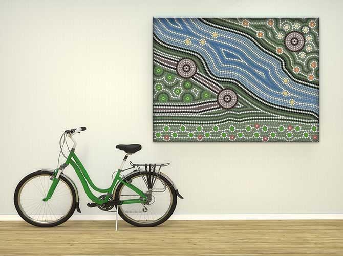 Apartment Interior Design - Aboriginal Art Canvas Print
