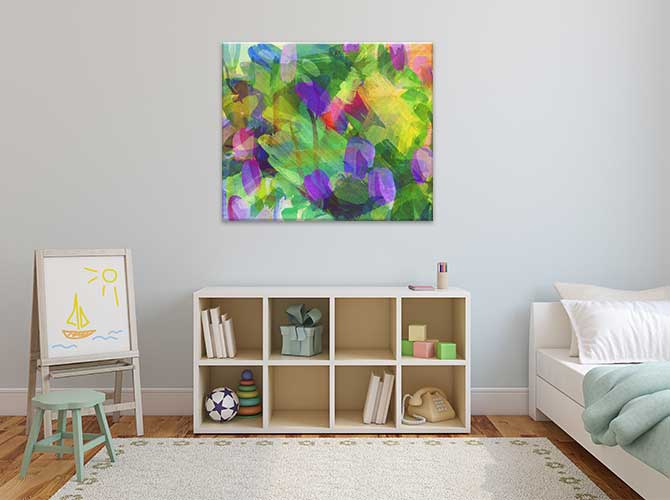 Abstract Art For Kids - Flowers Wall Art Print