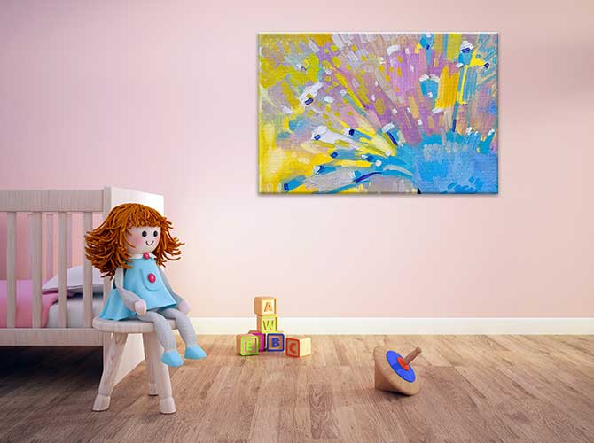 Abstract Art For Kids - Pastel
