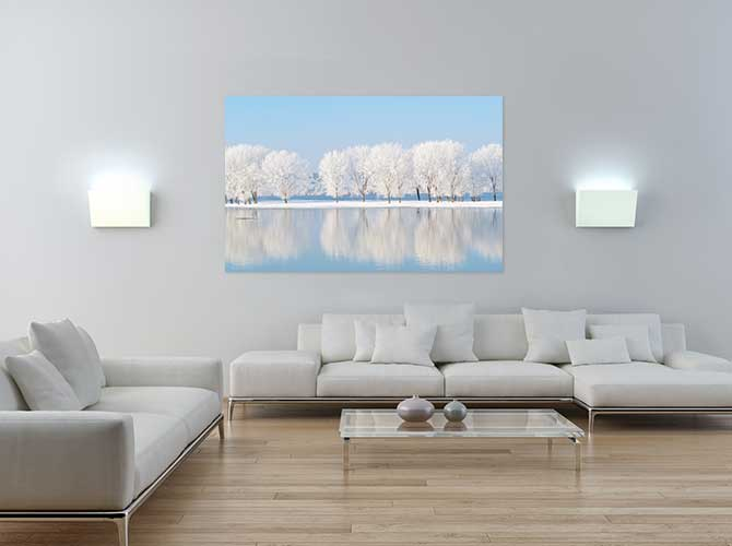 Scandinavian Interior Design - Snow Trees - Colour - Calm