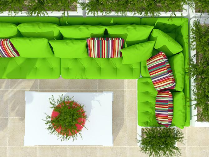 Design Inspiration - Lime Green Furniture