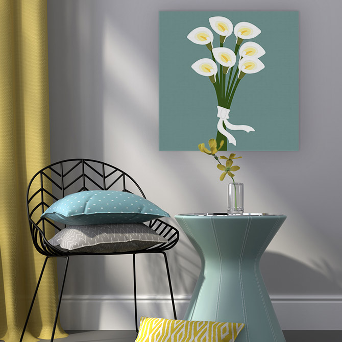 Colour Schemes - Grey Yellow Turquoise