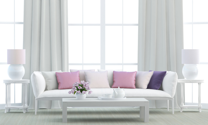 Colour Schemes - White Pink Purple