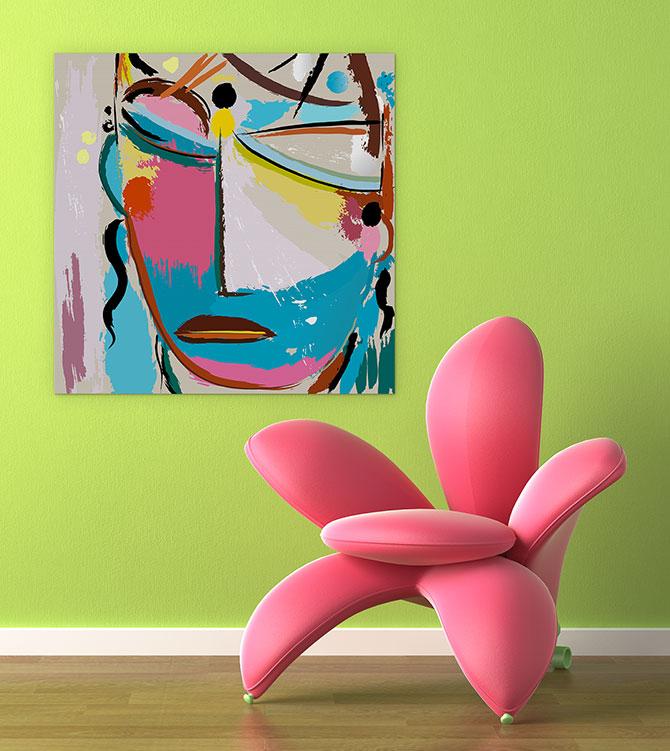 Living Room Ideas - Bold Colours