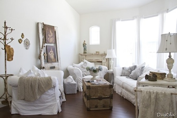 Living Room Ideas - Shabby Chic