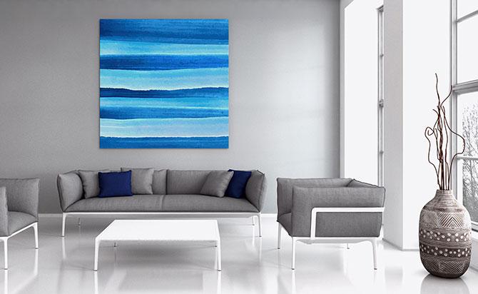 Minimalist Art - Waves