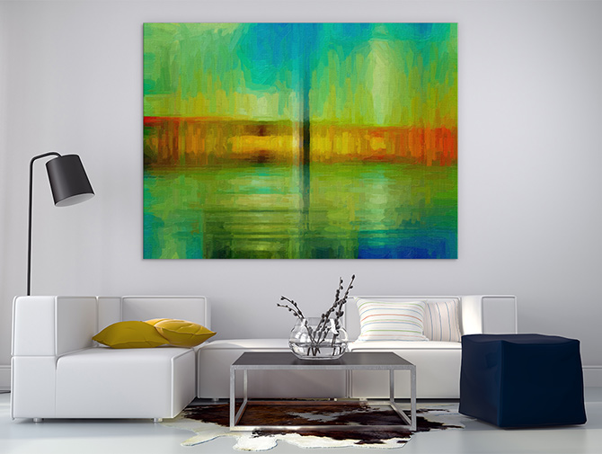 bright Abstract Landscapes