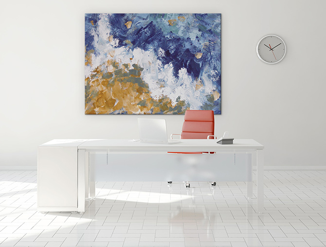 Abstract landscapes seaside art