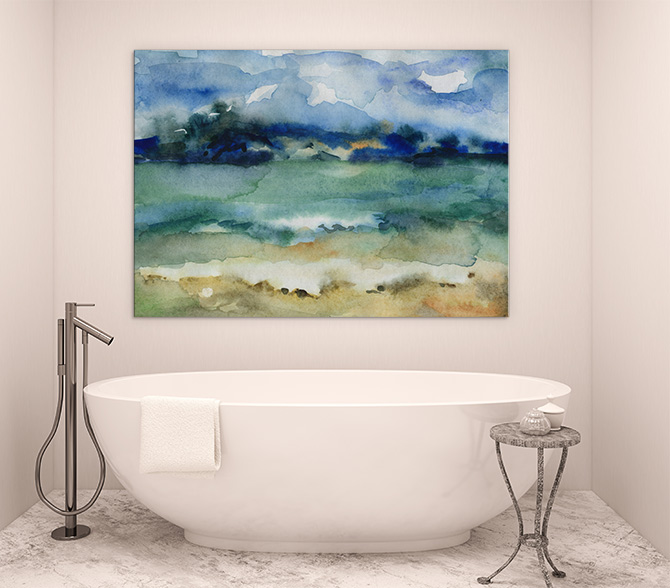 Abstract landscapes art canvas