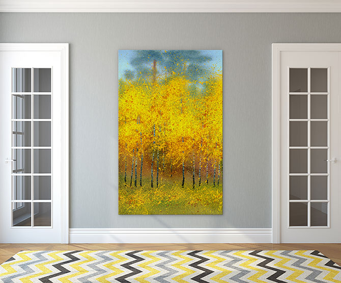 Abstract Landscapes with autumn colours