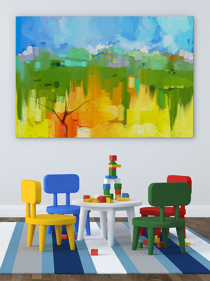 Abstract Landscapes that are colourful
