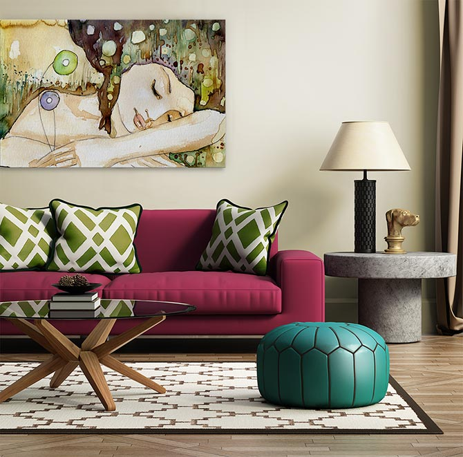 Boho chic artwork