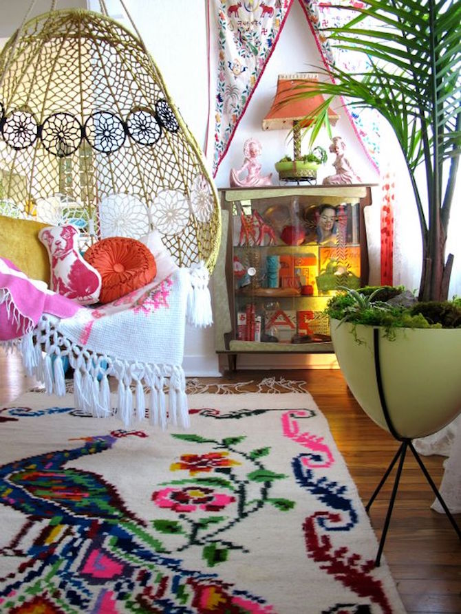 Boho Chic indoor hammock