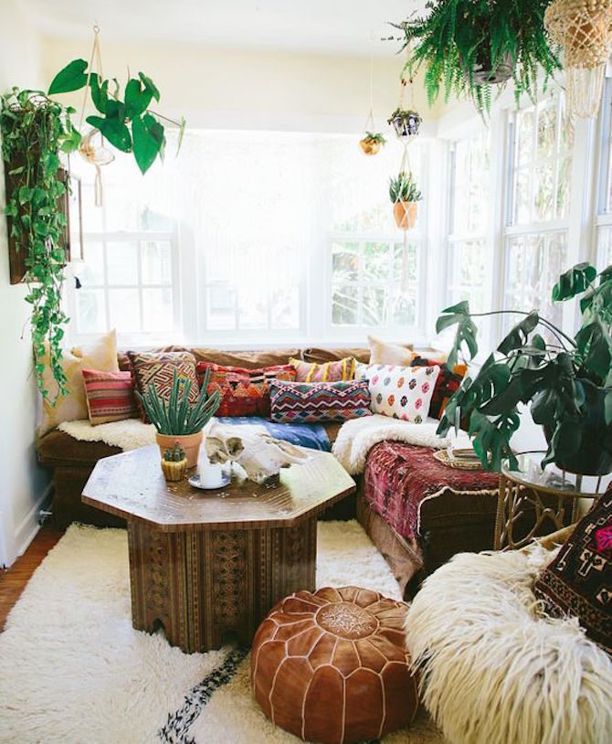 Boho Chic with indoor plants
