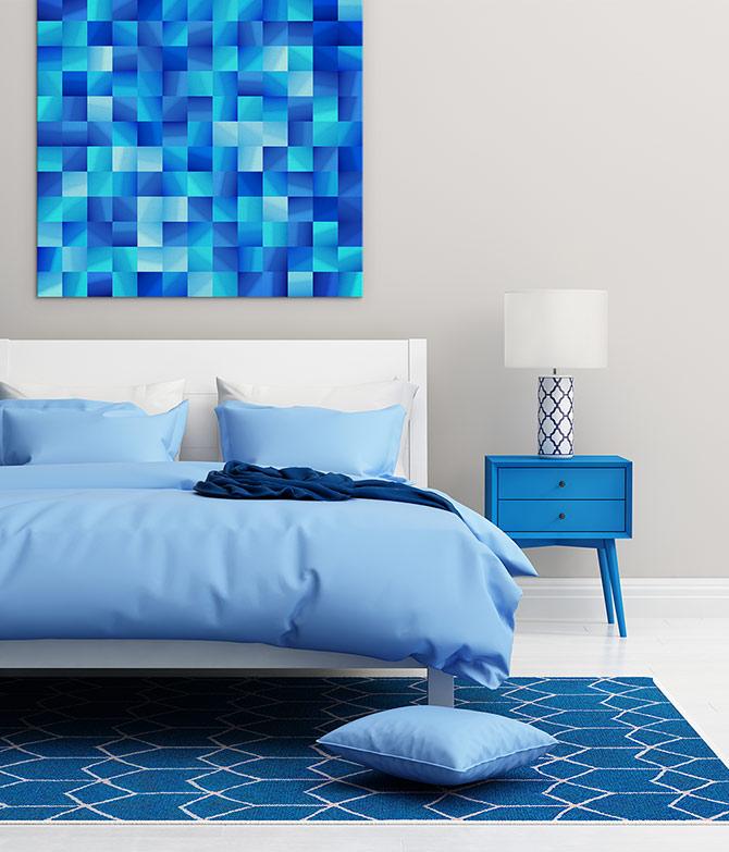 Digital Art - The Blues - Blue