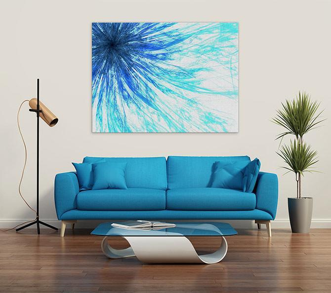 Digital Art - The Blues - Floral