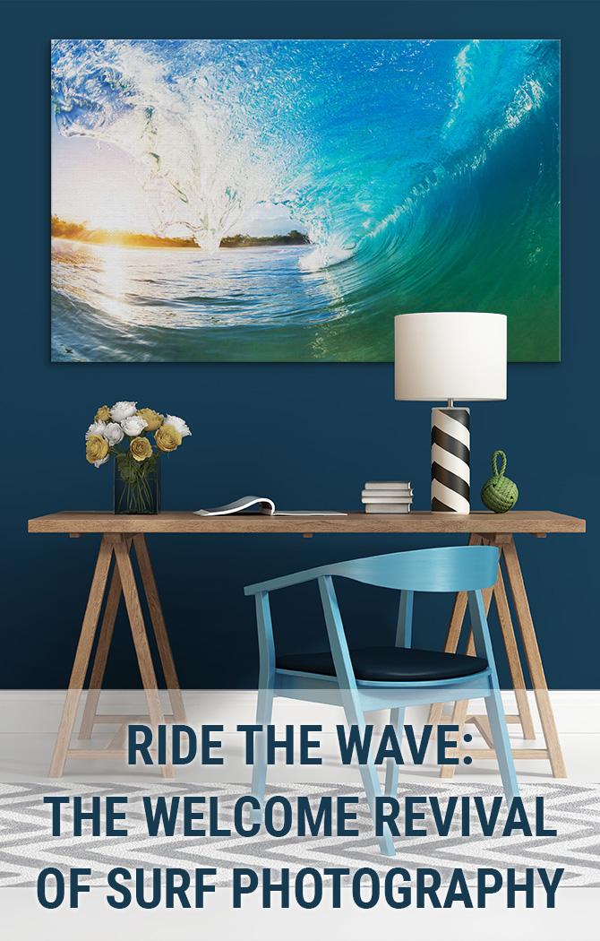 骑浪潮:冲浪摄影的欢迎复兴