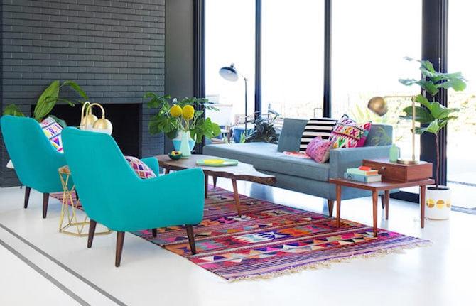 Modern Living Room - Rug Up