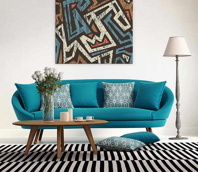 Modern Living Room - Pattern Play