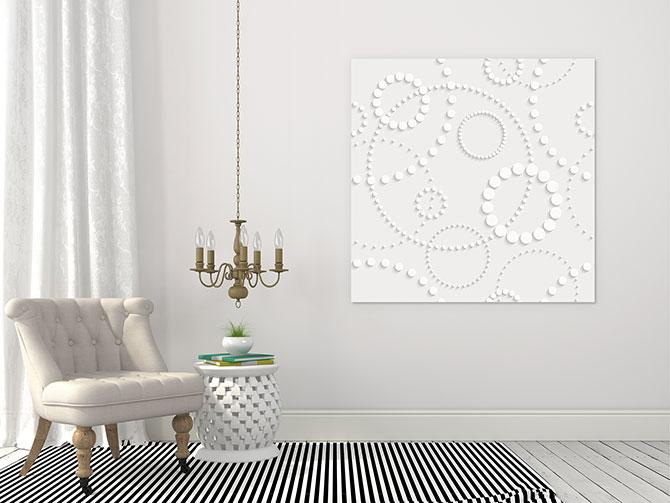 Modern Living Room - White On White