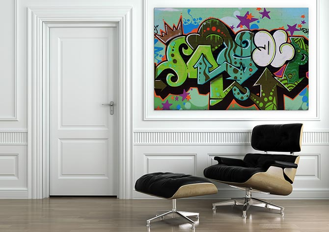 Cool Graffiti street art with sass