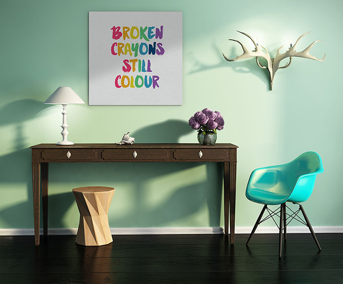 colourful uplifting quotes to put on your wall