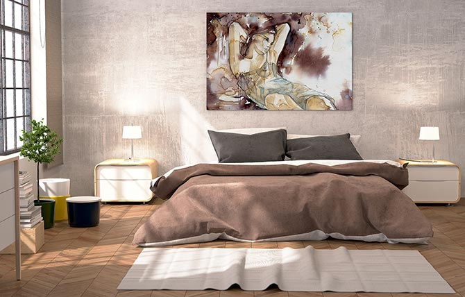 Interior design 101 how to hang pictures wall art prints - What to hang over bed ...