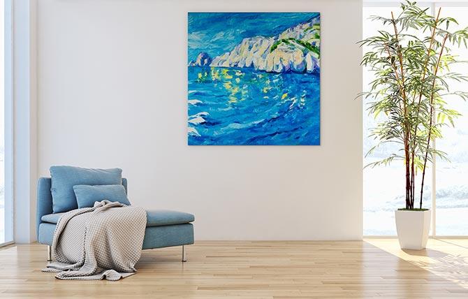Water Art Ideas Beach Cliffs