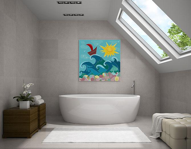 Bathroom Water Art Ideas