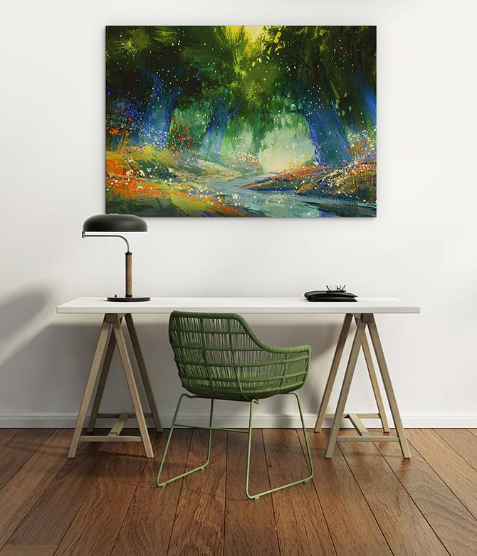 How To Hang Pictures - Desk