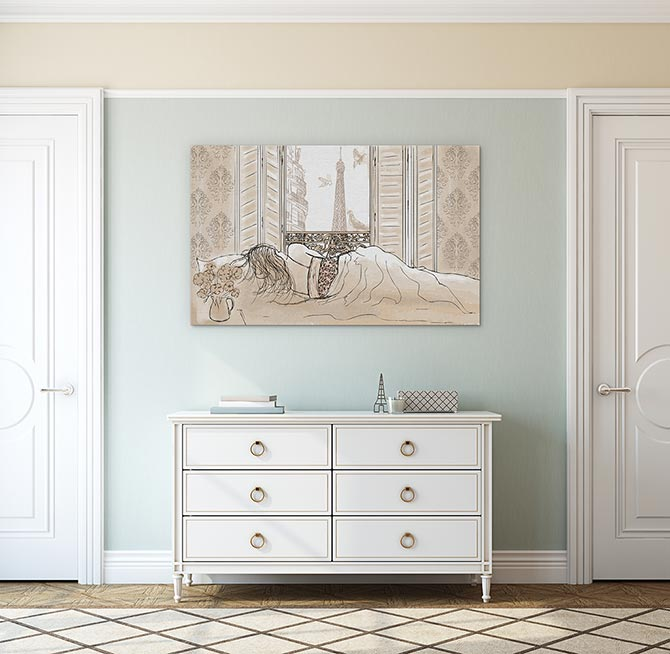 How To Hang Pictures - Hallway