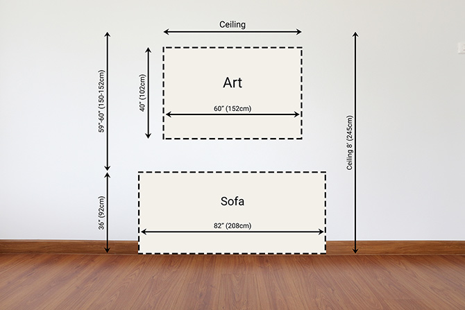 How To Hang Pictures - Diagram