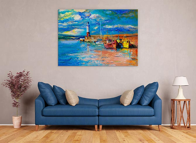 Water and Lighthouse Art Ideas