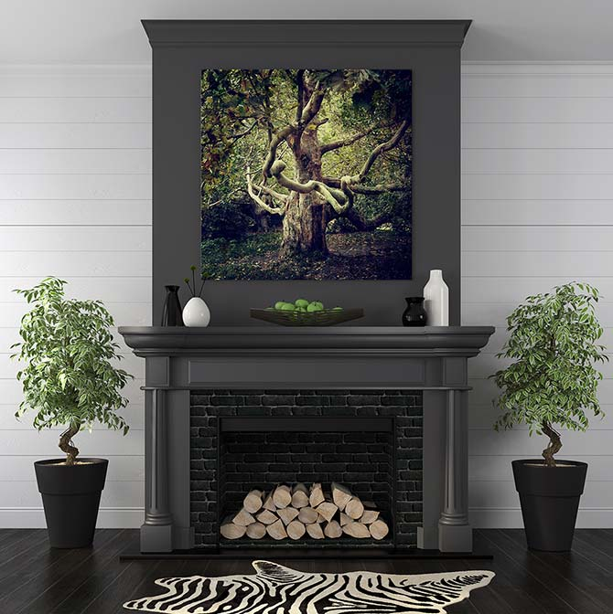 How To Hang Pictures - Mantle
