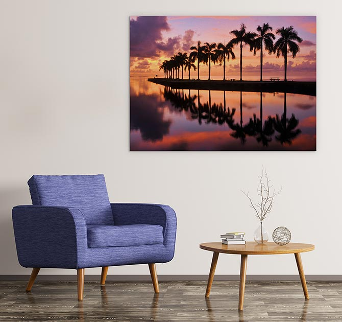 Miami Sunrise Water Art Ideas